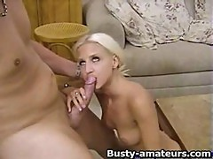 Busty Blonde Sammy Blows Cock While On 69