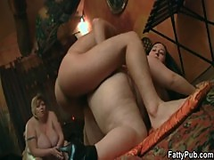 Hot brunette bbw gets boned