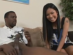 Asian beauty Priva finding out what a huge dicks feels like inside her pussy
