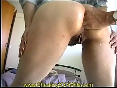 Extreme anal fisting and squirting wife