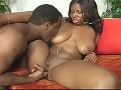 Black girl hardcore sex with a big black cock