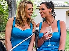 HOT bridesmaid Tanya Tate fucks Phoenix Marie with big strap-on