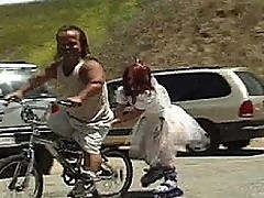 Red-headed Midget Bride Spunked in Her Eyeball!