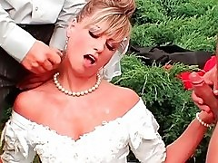 Wild Bride Cummed And Pissed On