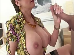 Mature stocking brit suck and fuck action