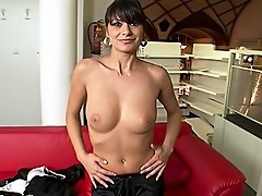 BTS With Rocco\'s New Brunette! She Shows Her Deep Long BJ!
