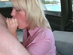 Cunt doggie fucking in the bus with blondie