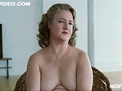 BBW Mature Blonde Marceline Hugot Shows It All In a Fur Scene