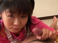 2 smoking hot innoncent Japanese teens playing surrounding the tackle
