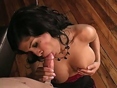 Naughty Alexis Amore drools on this pork sword