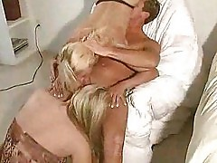 Sexy Blondes in Thongs Have Hot FFM Threesome