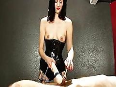 Brunette Chick Is Torturing A Guy With Vibrator And Toys In Bdsm