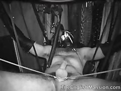 Shot In Black And White A Nasty Domme Punishes Her Male Slave