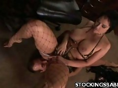 Stocking Babe Enjoys Getting Her Pussy Licked
