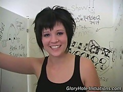 Emo chick jasmine visits the gloryhole