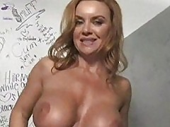White milf at a glory hole