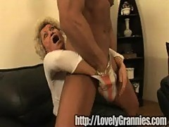 Golden granny girl gets rammed