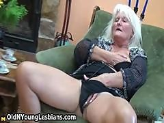 Horny Granny Loves Sucking Part1