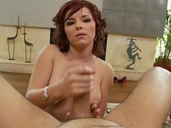 Amanda Blue gives a fantastic hand job and proves she is really a handy woman
