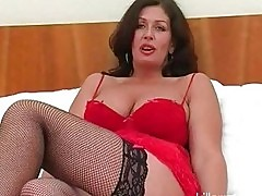Big breasted slut wife fucks black hunk in sexy lingerie