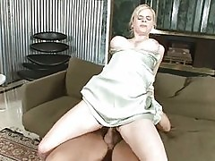 Sexy Blonde Housewife Rides Dick