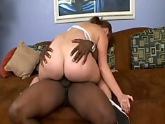 Thick ass redhead riding huge black cock
