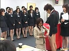 Blowjob Orgy At This Japanese Office
