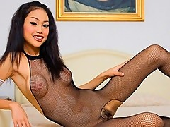 Fishnet masturbation