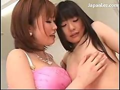 Young Asian Girl In White Dress Getting Her..