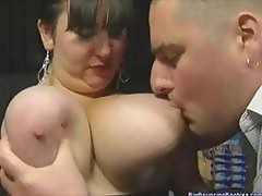Chubby British Mature Barmaid With Huge Tits Gets Fingered In Bar
