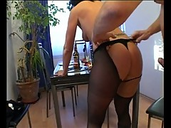 Horny dude fucking her milf wife