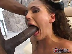 Venus takes monster dick in asshole
