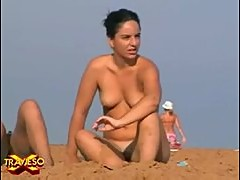 Nude beach voyeur video