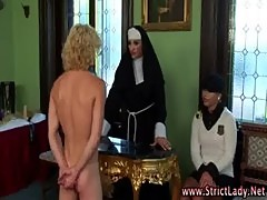 Femdom nun teaches babes to dominate