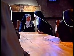 Lesbian nuns get around with 69 and oral