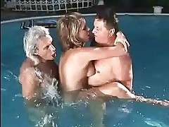 Teen fucking with two grandpas