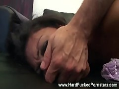 Pornstar gets anally punished then dirty facial