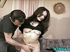 Sexy babe tits punished