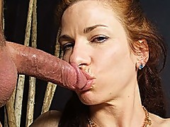 Mature Redhead Swallows Sack Load Of Cum