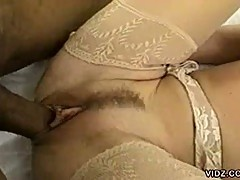 Horny black dude fucking hot blonde chick in interracial hardcore