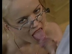 HORNY SECRETARY WITH GLASSES