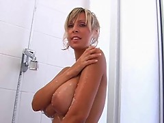 Milly Morris in the Shower