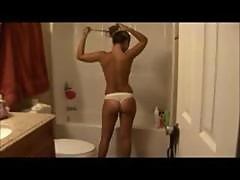 Perfect amateur girl naked shower video
