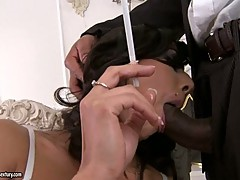 Lou Charmele gets banged by a Black Meaty Cock in her hole