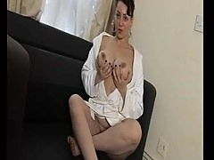 Big titty Russian girl solo and cock play