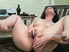 Solo babe fucks herself with toys in the ass in anal fetish sex masturbation and pervert pleasures