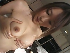 Nasty asian babe gets kinky