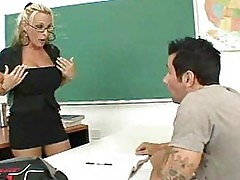 Blonde teacher with huge tits fucked hard