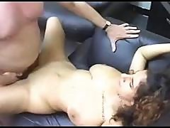 Brunette With Massive Floppy Tits Fucked And Jizzed On
