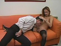 Gorgeous t-girl teases dude for fuck